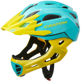 Cratoni C-Maniac Casco Per Freeride, turquoise/yellow gloss